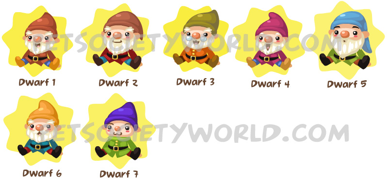 who were the 7 dwarfs names